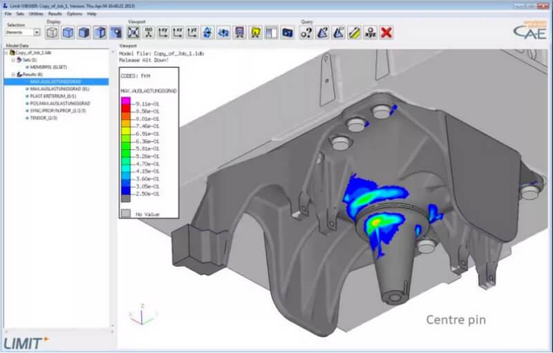 Screenshot of Strength Assessment Software Interface